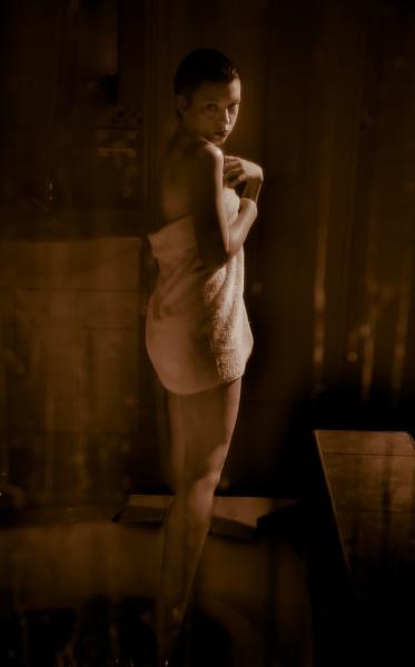 Lady Bathing by Wellspring