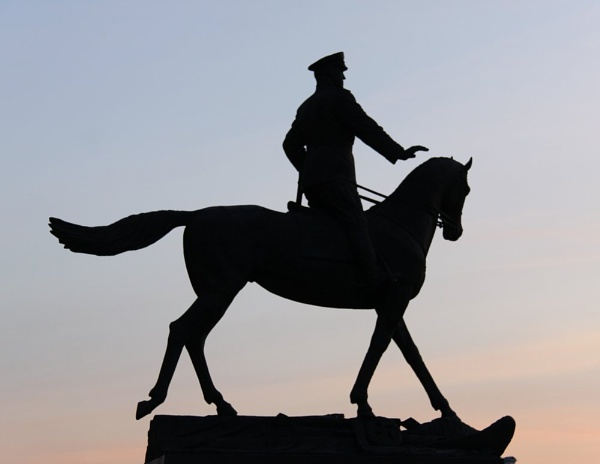 Soldier and Horse by georg