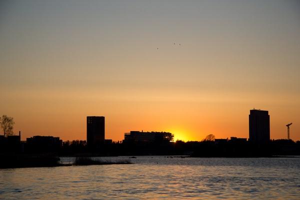 sunset in keilaniemi by TheKing