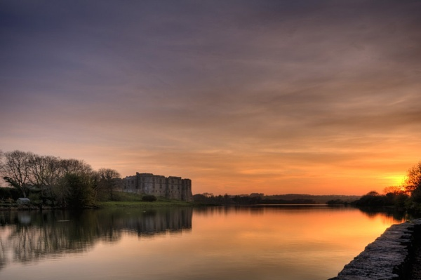 Carew Castle Sunset by silversnapper1