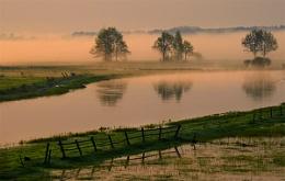 Sunrise Over The Narew River