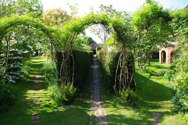 Stone House Cottage Garden Entrance by johnwnjr