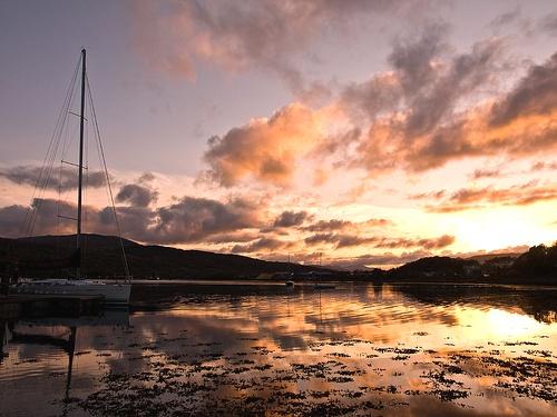 Loch Eil Sunset by Fluke