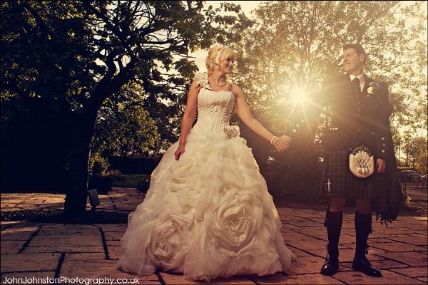 sunlit Wedding by JohnJohnstonPhotography
