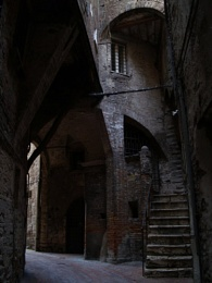 dark, mysterious corner