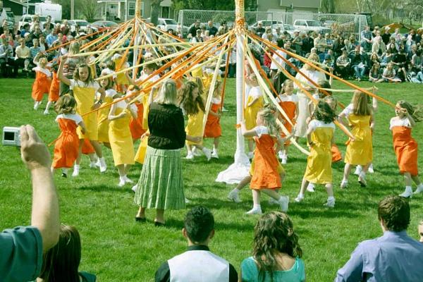 The Maypole Dance. by Carlkuntze
