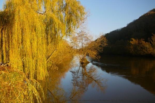 autumn on the river wye by gixxergirl46