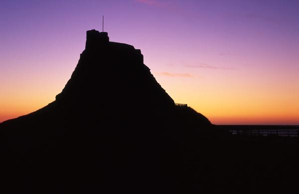 Lindisfarne Castle Silhouette by kgb