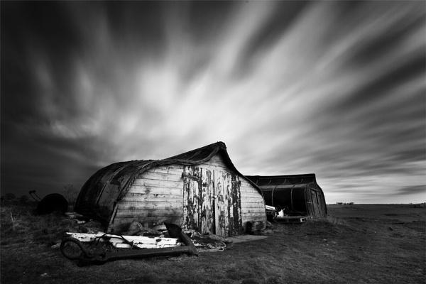 Fishing Huts by Sainty