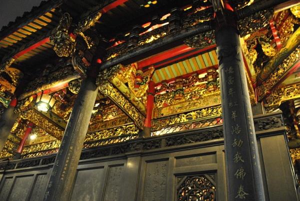 Longshan temple at night (Taipei, Taiwan) by dsancho66