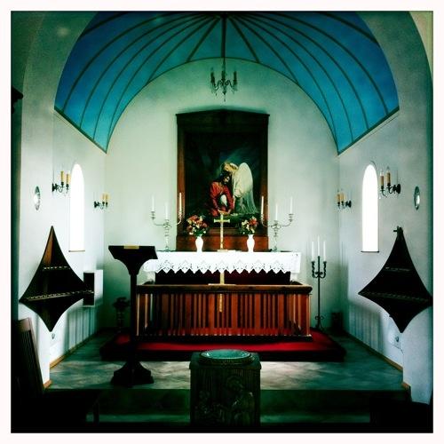 Inside Vik Church by vickyh