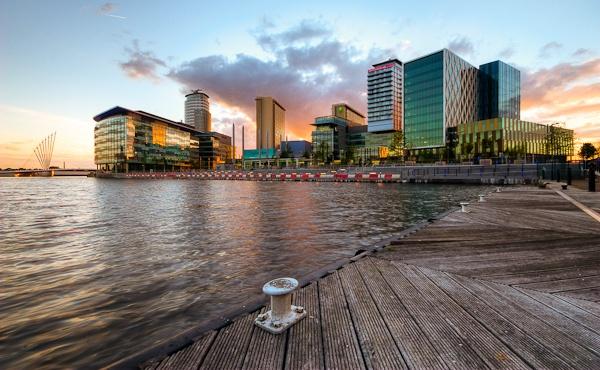 Media City - sunset by Slaterm