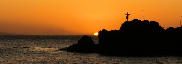 Cliff diver Maui by johnnyscirocco