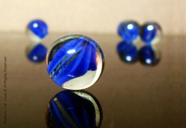 Blue Marbles by jmu
