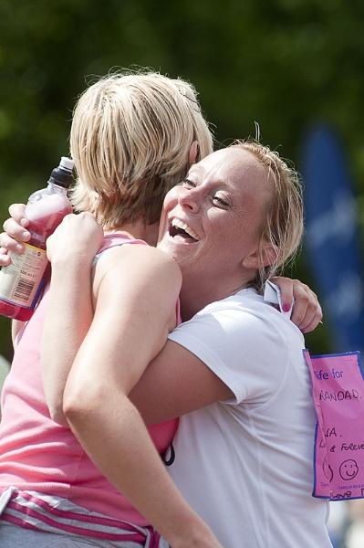 Finishing the Race for Life in Falkirk by Pauldaviddrabble