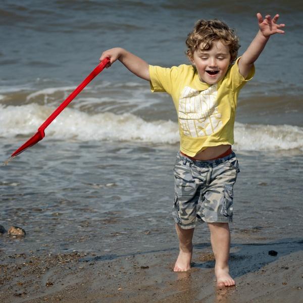 Boy on Beach by damienvc