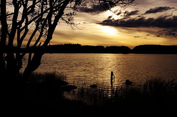 Sunset Loch Loriston by CorporalClegg