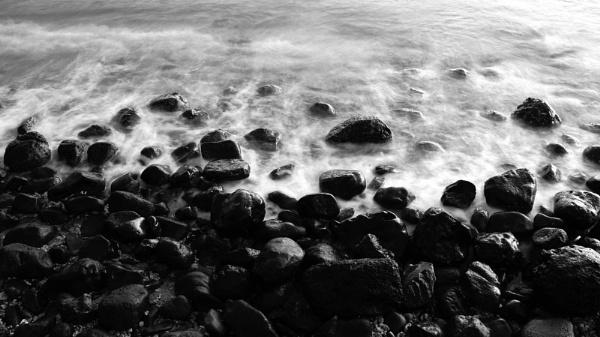 Rocky shoreline in Maui by johnnyscirocco