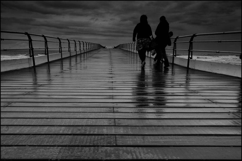 A wet day on Saltburn Pier