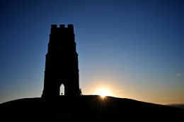 Sun Up at Glastonbury Tor