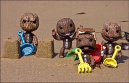 Sackboys at the beach