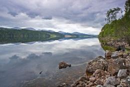 Dark skies over Loch Garry