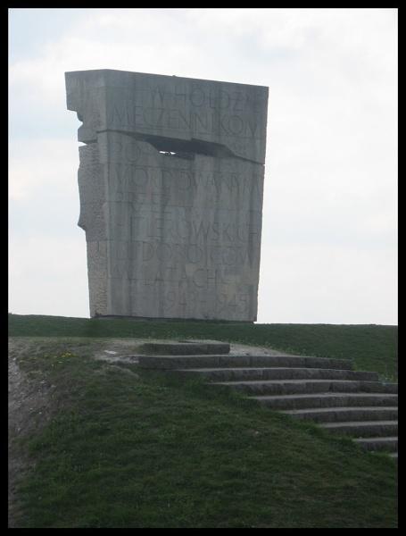 Memorial at Plaszow Concentration Camp, Krakow, Poland by Elizabethh