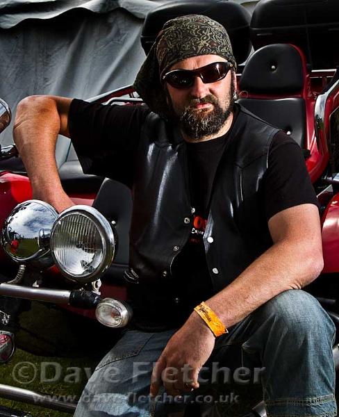 Portrait of a Trike biker by fletchphoto