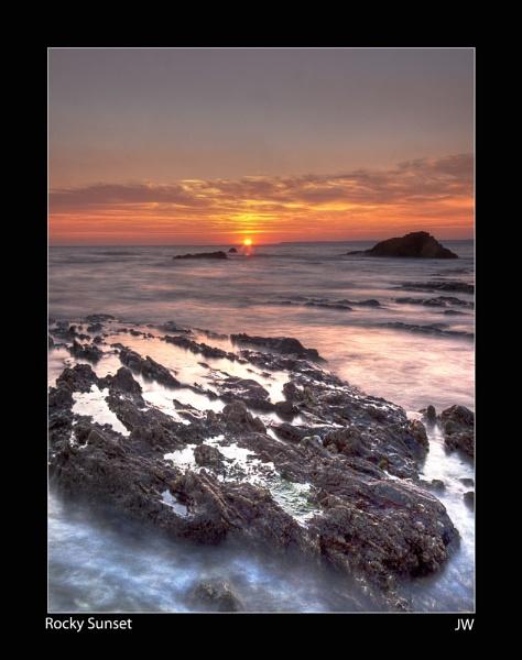 Rocky Sunset by jer