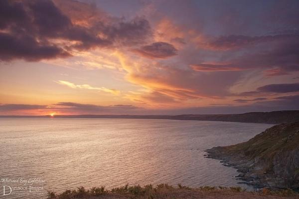 Whitsand Bay Lightsow by elkiebrooks