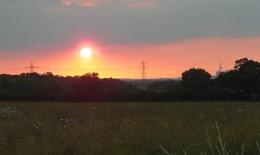 Sundog over the Trent Valley