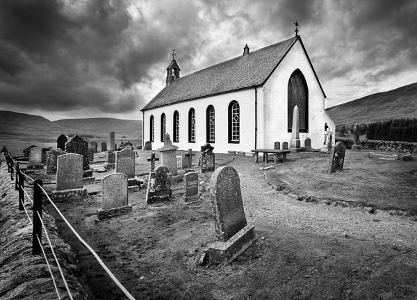 The churchyard by Steve Cribbin