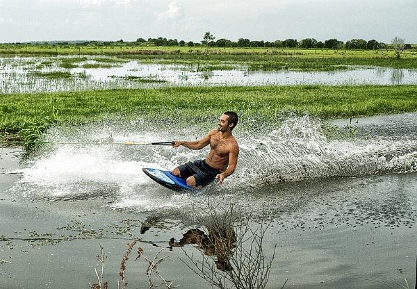Waterboarding in Old Myakka by jbsaladino