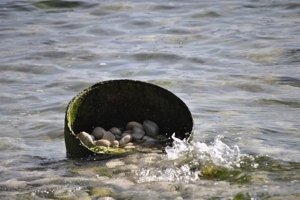 Bucket of pebbles by suekib