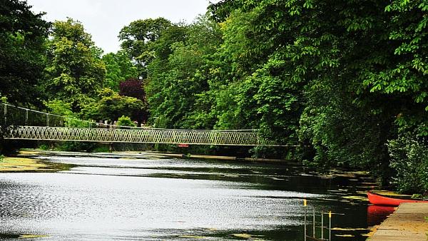 The bridge at Canford Magna by suekib