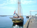 dutch sailing barge de tukker in  amble harbour northumberland