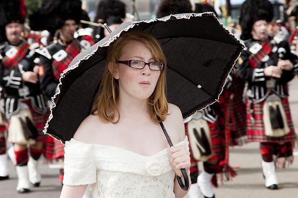Black Cherry Chertsey Fair Umbrella Girl.