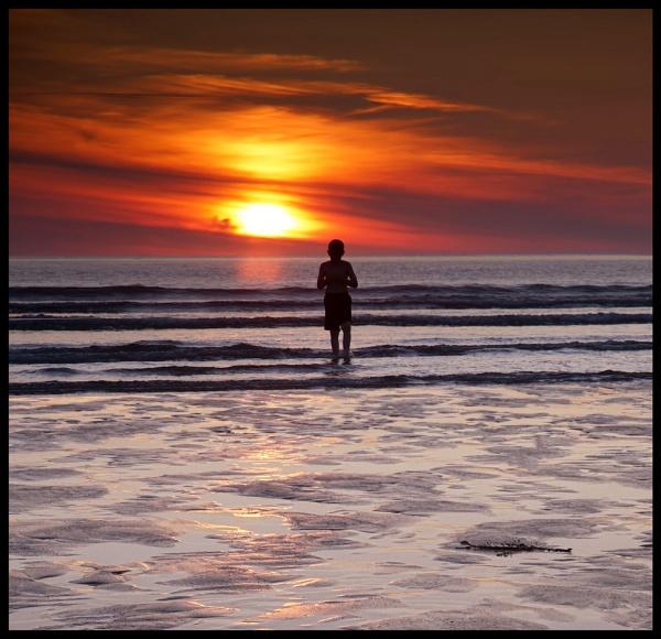 Sunset dip @ Portnoo by ANNIEKERR