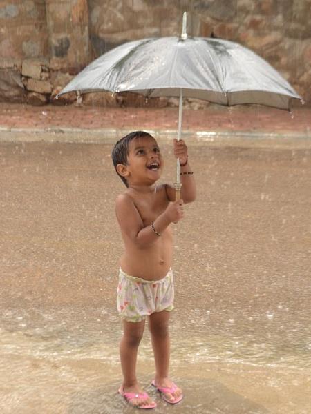 Rain Bathn with Umbrella by Prashant1610