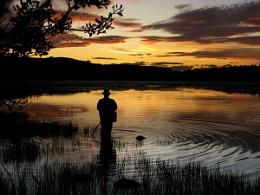 Sunset on Loriston Loch