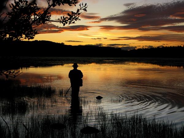 Sunset on Loriston Loch by Biz