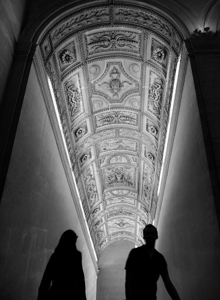 Silhouettes on a stairway by bill777