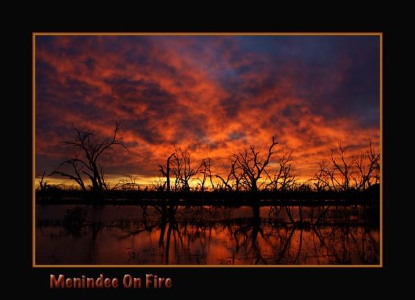 Menindee on Fire by Joeblowfromoz