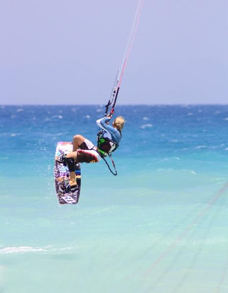 Kite surfer by Tsampika