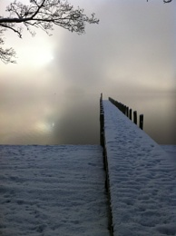 Snowy jetty
