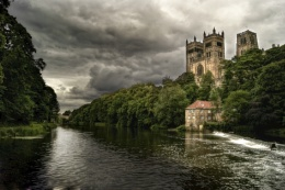 Durham Cathedral from The Mill House at the Riverside