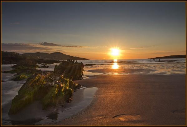 Footprints @ sunset, Portnoo by ANNIEKERR