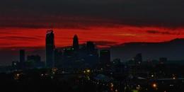Charlotte Skyline Light Show