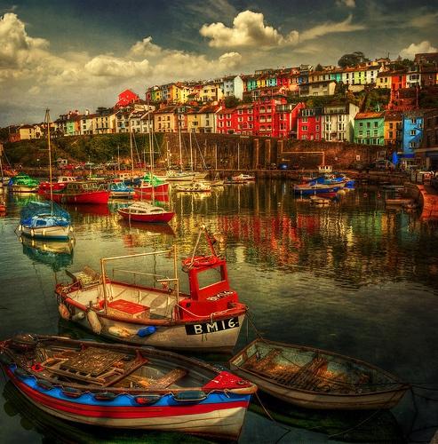 Brixham Boats by Audran