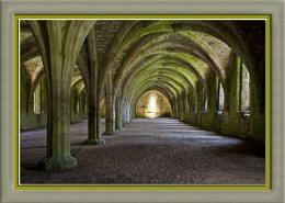 The cellarium, Fountains Abbey